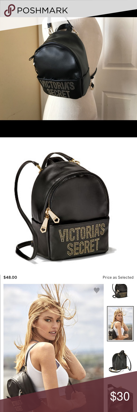 Victoria's Secret backpack NWT glam rock backpack Victoria's Secret Bags Backpacks