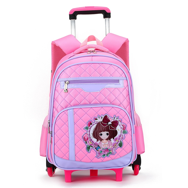 64.78$  Watch now - http://aliz8x.worldwells.pw/go.php?t=32711928417 - Children School Bags Removable With 6 Wheels Stairs Laptop Backpack For Business Travel Trolley Schoolbag Luggage Book Bags