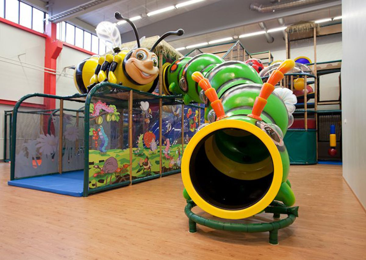 Bug Themed Indoor Family Entertainment Center Install In