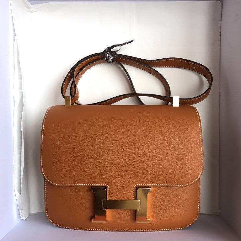 Hermes Constance 24 Toffee Evercolor Ghw A  30059f0f6cf79