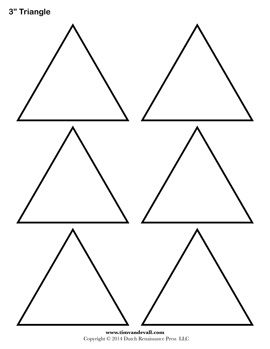 graphic relating to Free Printable Shape Templates known as totally free triangle template crafts Triangle template, Form