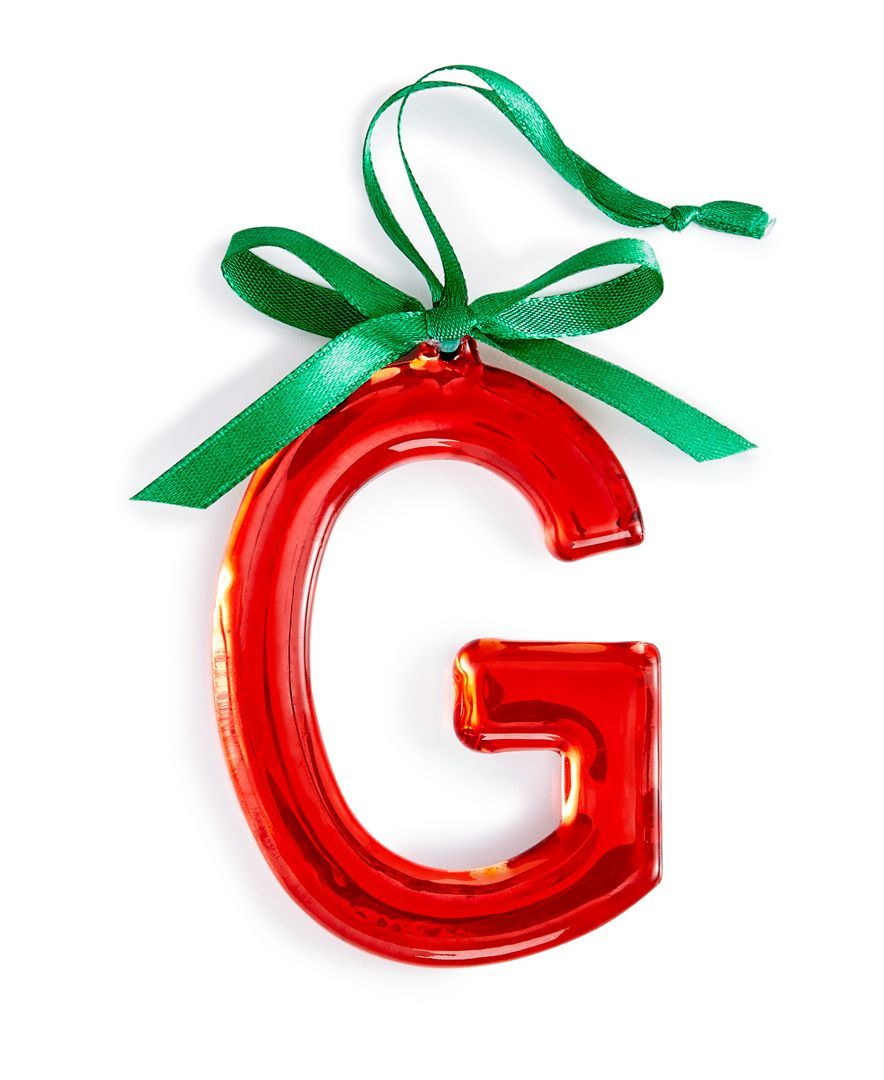 Holiday Lane Red Initial Ornament, Only at Macy\'s | Let\'s trim the ...
