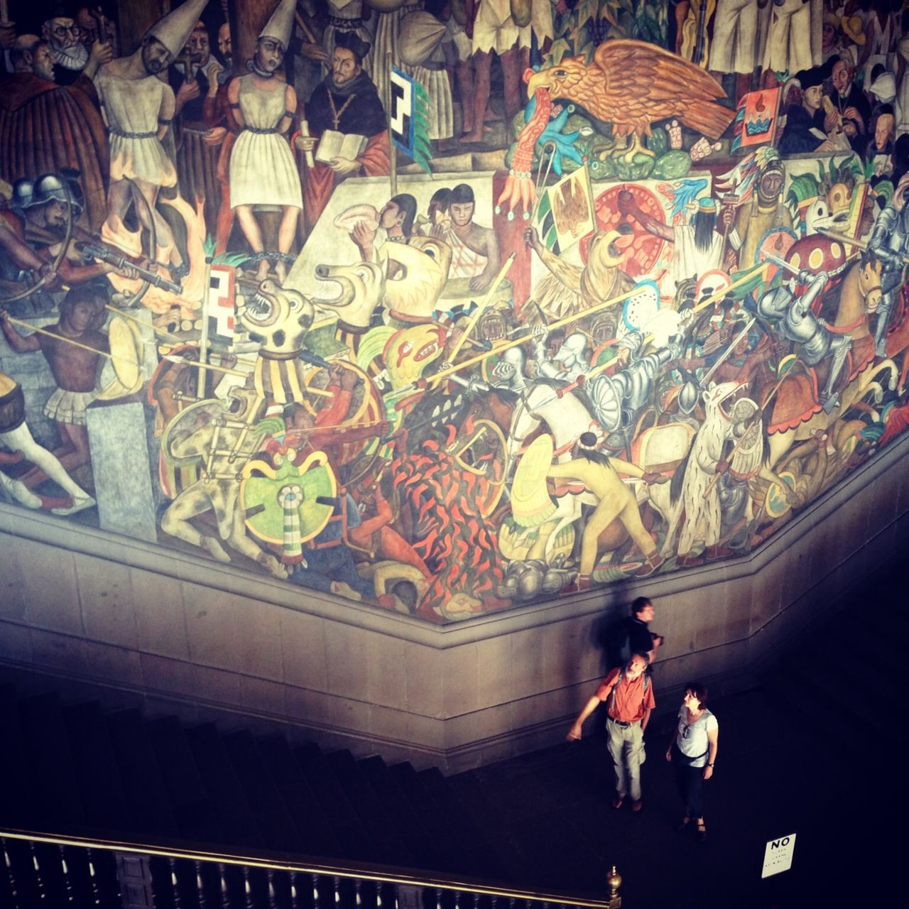 Diego rivera s famous epic of the mexican people mural for Diego rivera s most famous mural