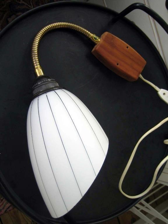 antik lampa glaskupa