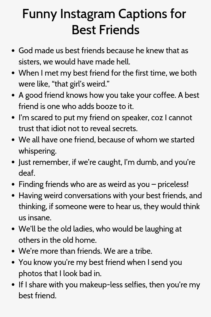 Funny Instagram Captions For Best Friends Funny Instagram Captions Instagram Captions Instagram Captions Clever