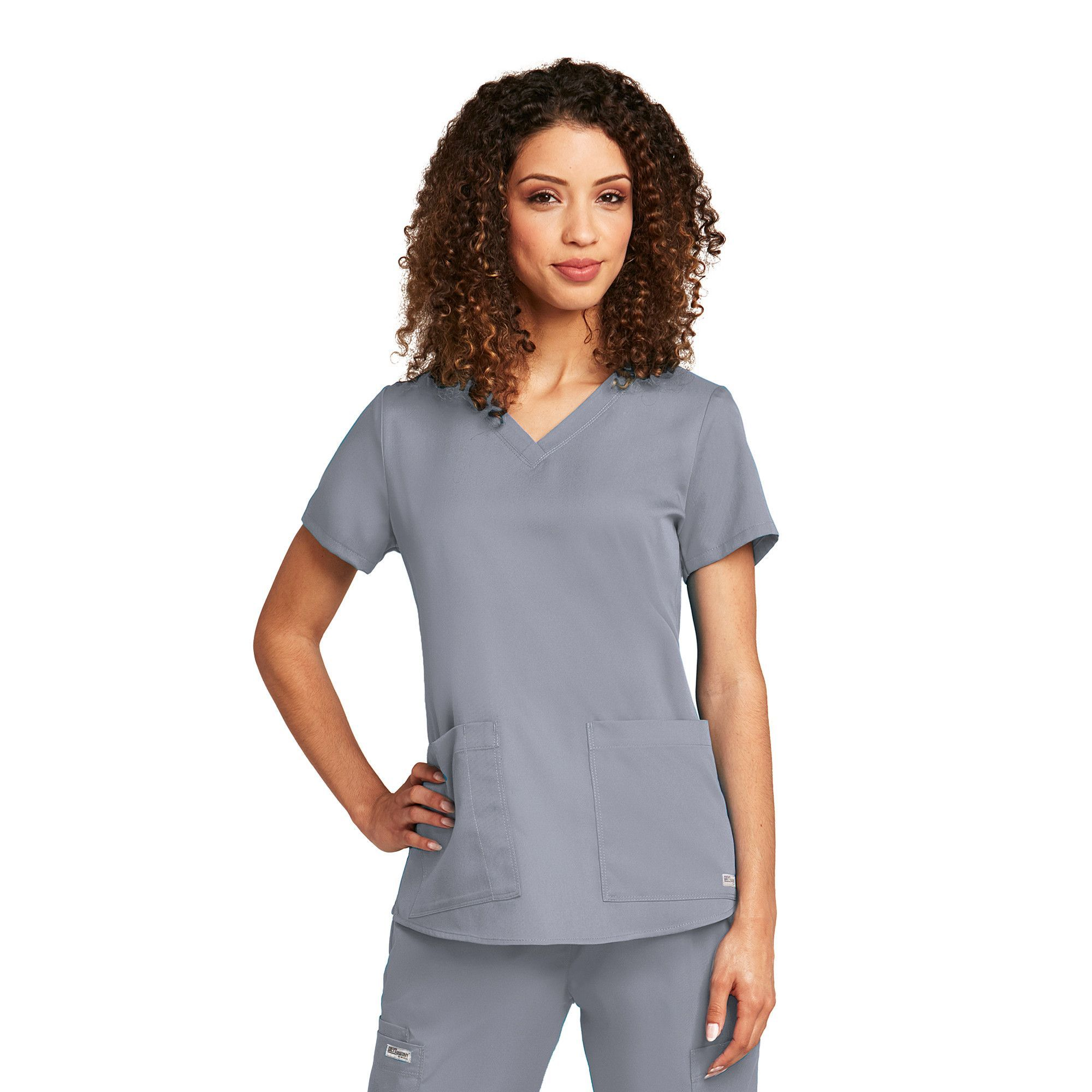 71f9204079f Grey's Anatomy 2 Pocket V Neck Shirred Back - Moonstruck | Products ...