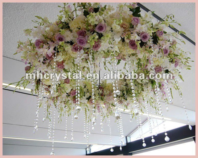 Single Teardrop Hanging Crystals Garland Mh 12326 Over