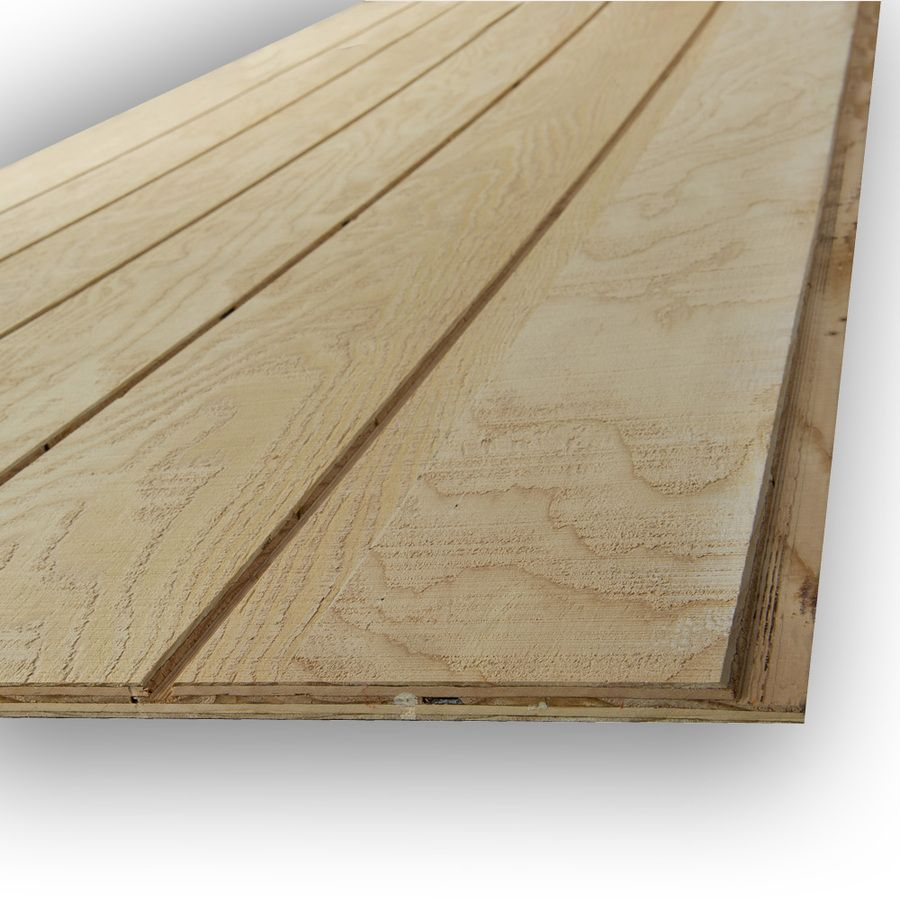 Douglas Fir Siding Natural Wood T1 11 Panel Siding 0 594 In X 48 In X 96 In Lowes Com Wood Panel Siding Wood Siding Wood Siding Exterior