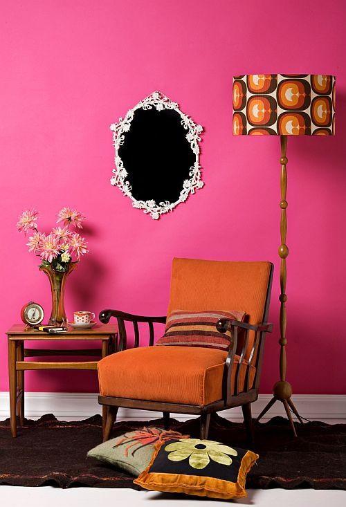 Retro Oranje met roze kan prima , hier het bewijs !.