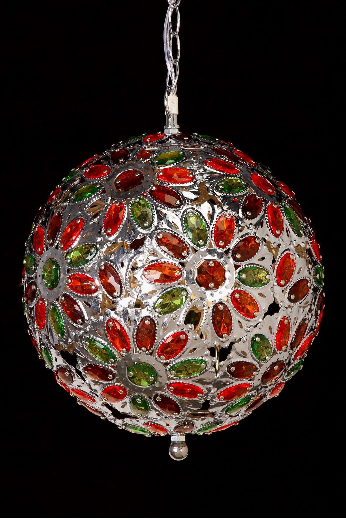 Crystal Ball Chandelier   Favorite lighting, Christmas bulbs