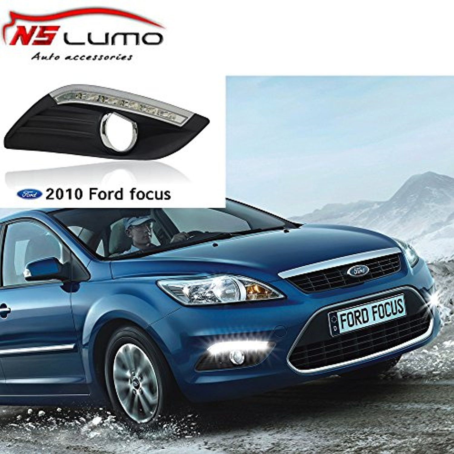 nslumo led fog light daytime running light drl driving lamp for ford focus sedan 2009 2011 high configuration awesome products selected by anna  [ 1500 x 1500 Pixel ]
