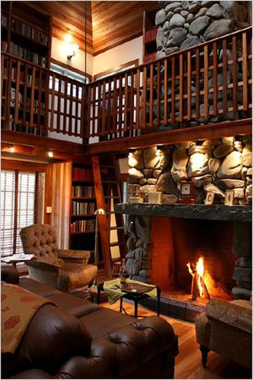42 The Best Home Library Design Ideas With Rustic Style ...