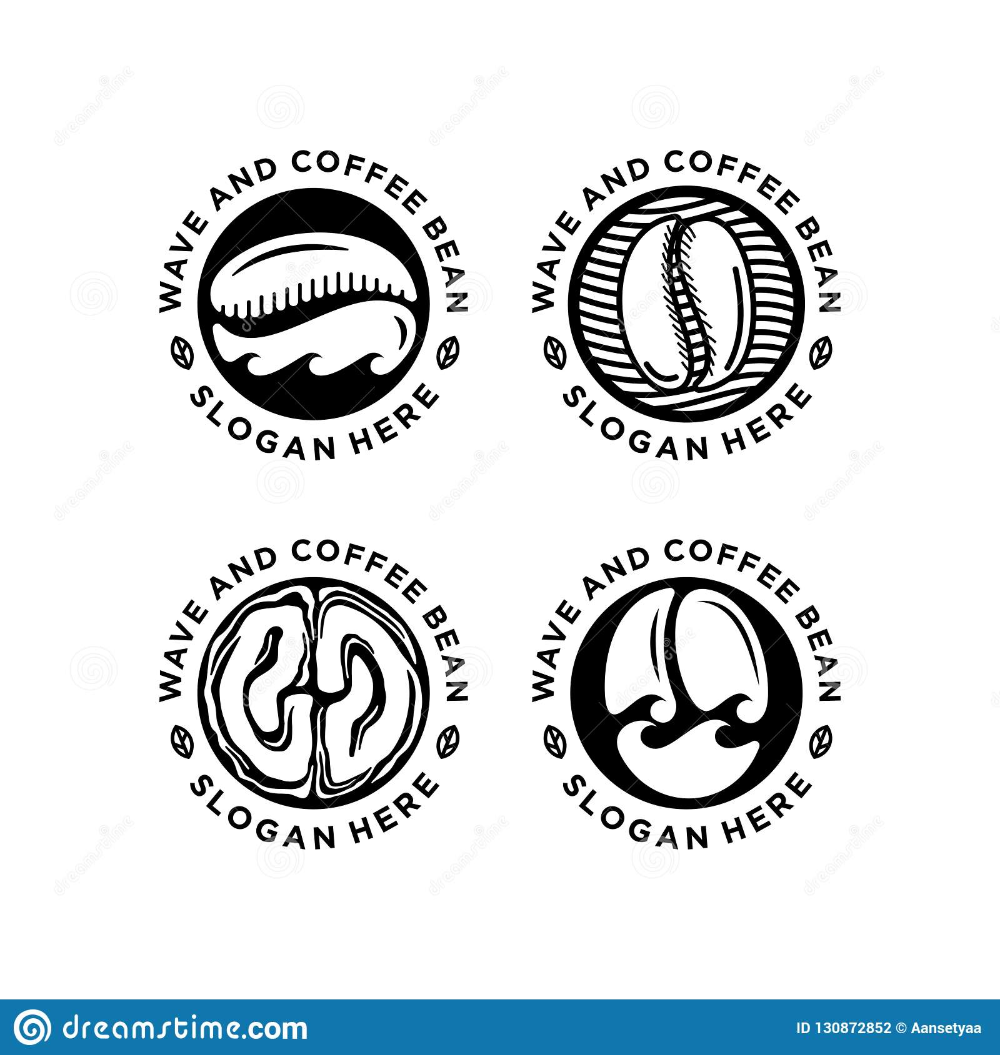 Coffee Bean, Coffee Shop Logo Design in 2020 Coffee