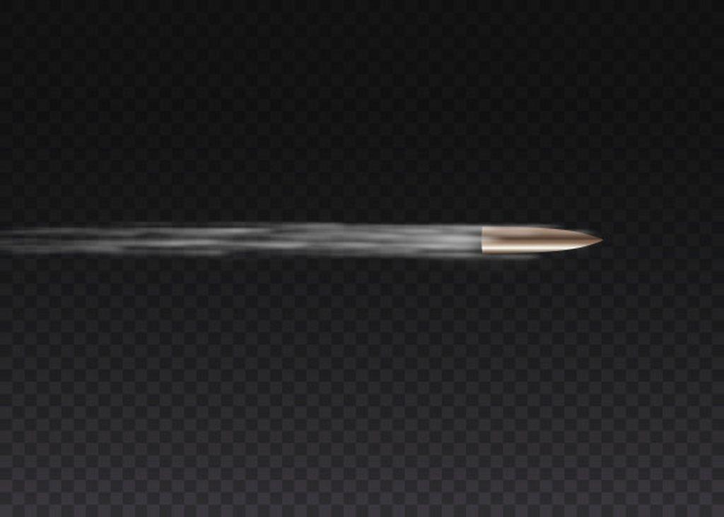 Realistic Flying Bullet In Motion Gunshots Bullet In Motion Military Smoke Trails Smoke Traces Isolated On Tran Smoke Trail Handgun Shooting Wedding Vector