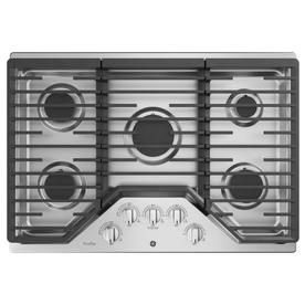 Ge Profile 5 Burner Gas Cooktop Stainless Steel Common 30 In