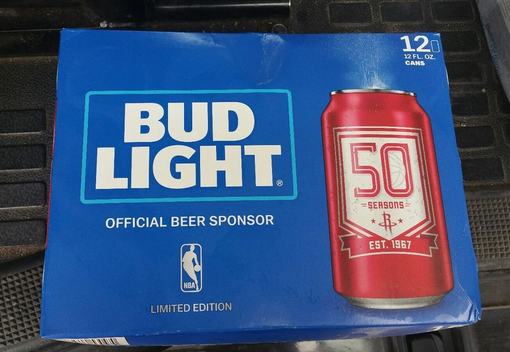 Houston Rockets Limited Edition Nba 12 Oz Bud Light Beer Can 2016 Red Empty Bud Light Beer Beer Can Bud Light