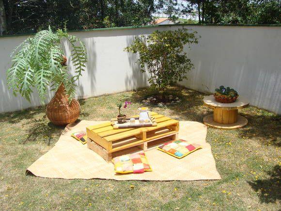 mesa dupla de palete de longarina