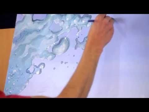 How To Paint Splashing Water Drops Bubbles Mural Joe Painting