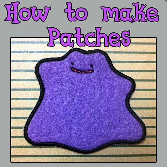 Tutorial How To Make Machine Embroidered Patches Etsy Machine Embroidery Designs Projects Machine Embroidery Embroidered Patches