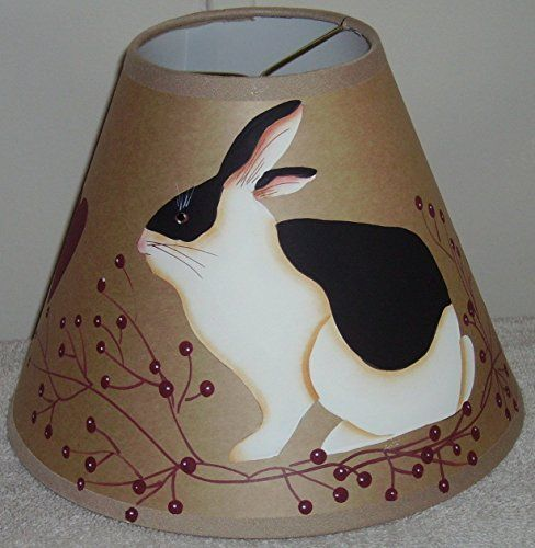 Bunny Berry Brown Oiled Craft Lampshade.