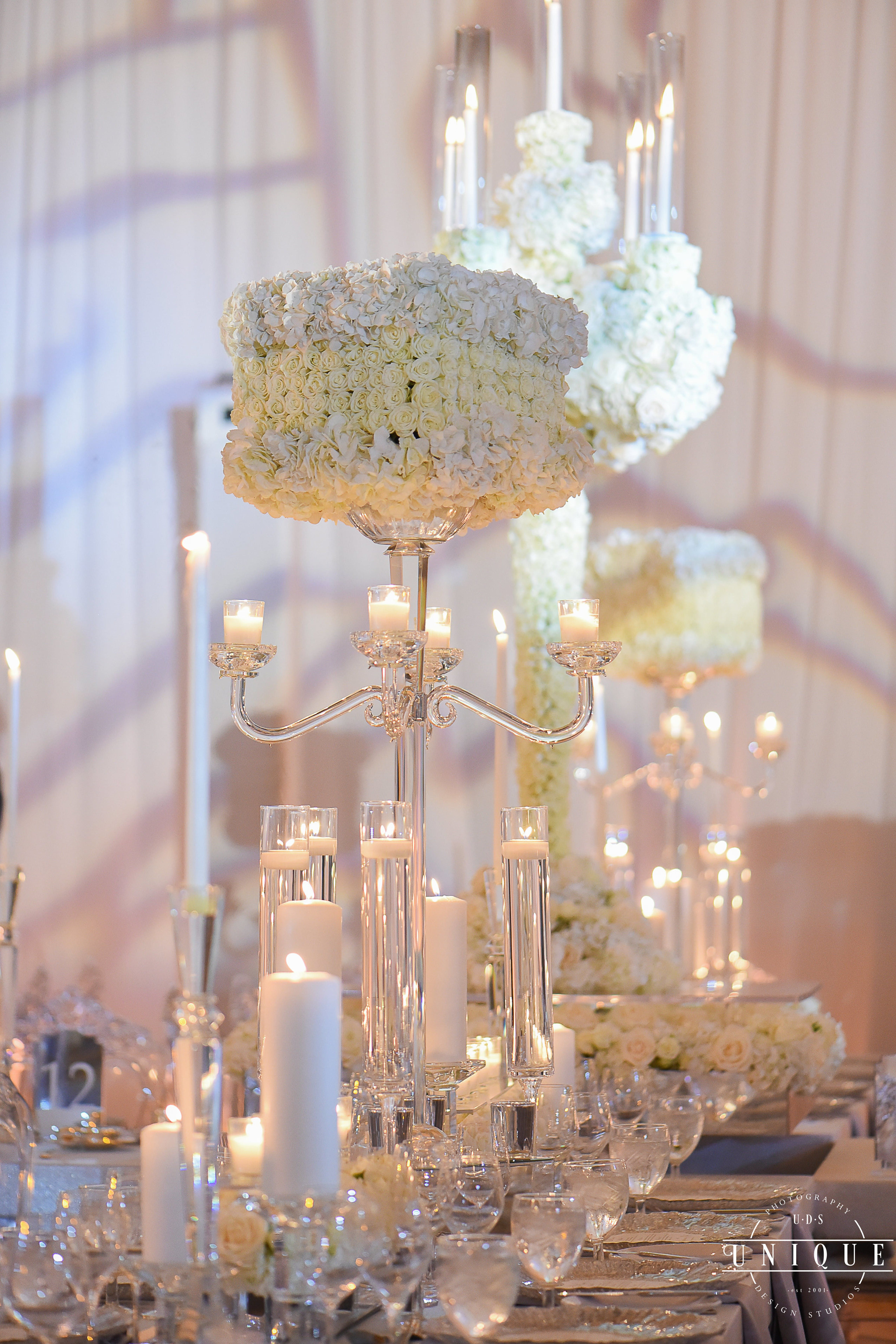 White Pink And Green Dreamy Wedding Party Rentals And Decor By Gilded Group Decor Miami Eve Luxury Wedding Centerpieces Wedding Centerpieces Floral Wedding