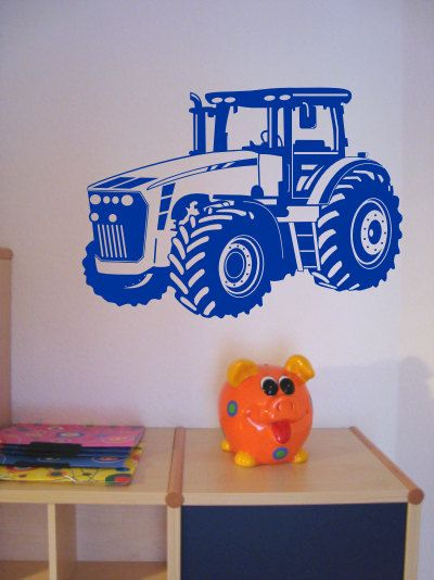 Wandtattoo Trecker / Traktor. Wandtattoo Trecker Ab 30cm, Walltattoo,  Wallsticker | Wandtattoo Kinderzimmer | Pinterest