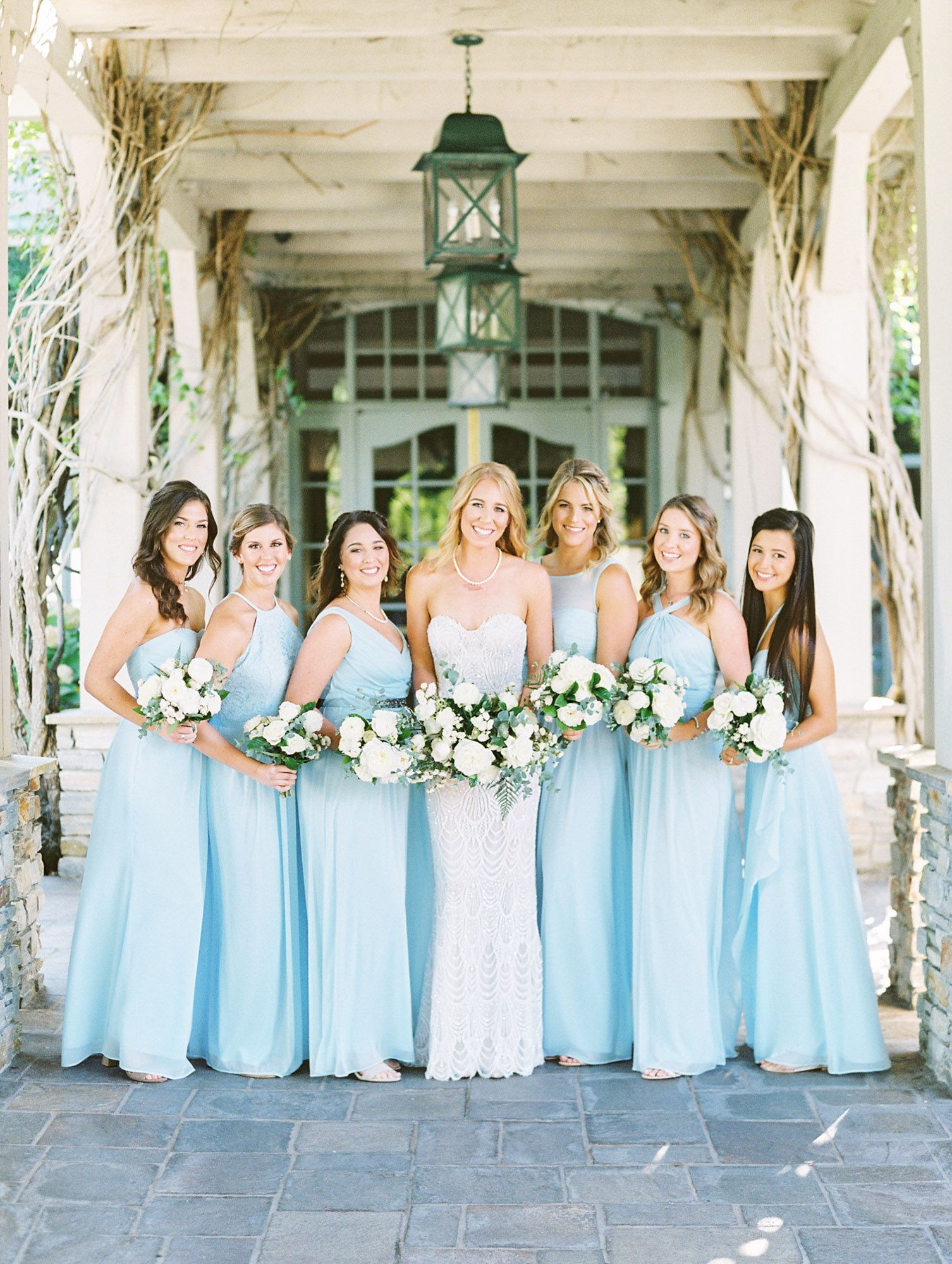 Ice Blue Bridesmaid Dresses Del Mar Country Club Compass