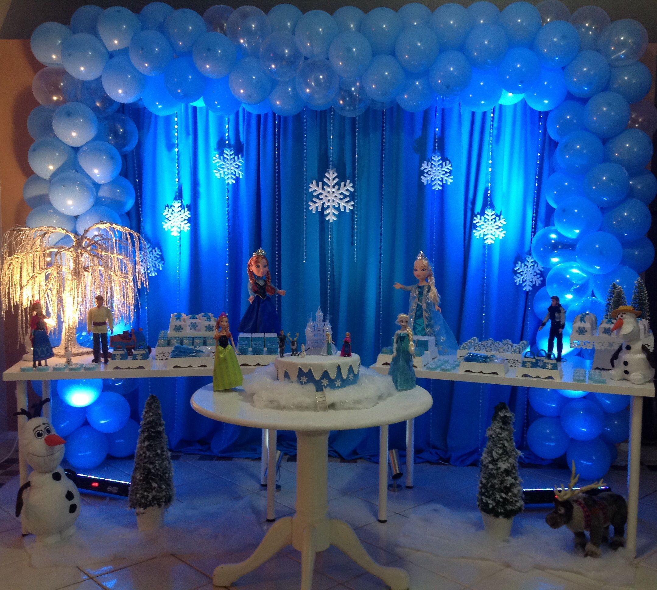 Frozen birthday party decoracion fiesta frozen for 5th birthday decoration ideas