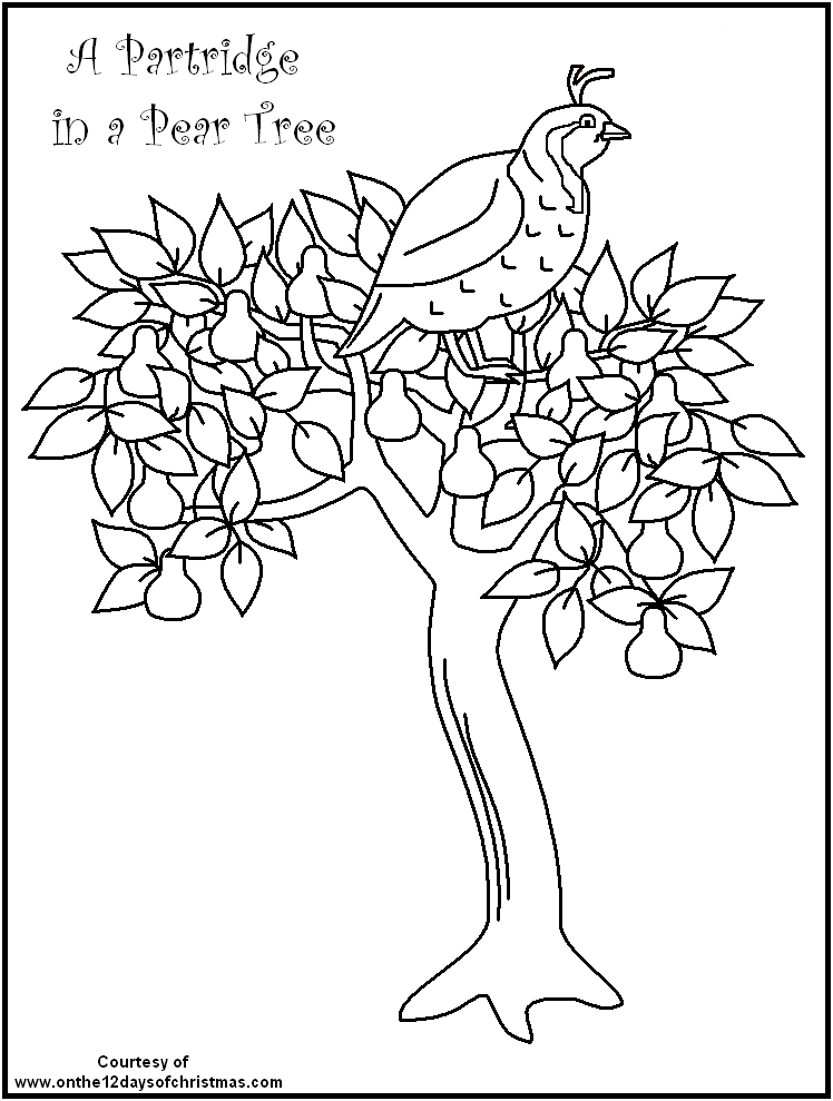 Free Printable Christmas Coloring On The 12 Days Of Christmas Theme Christmas Tree Coloring Page Tree Coloring Page Christmas Coloring Sheets