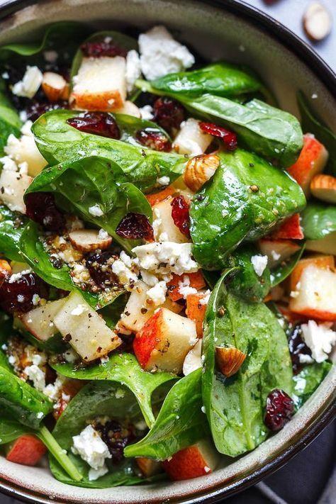 Apfel-Feta-Spinat-Salat – New Ideas