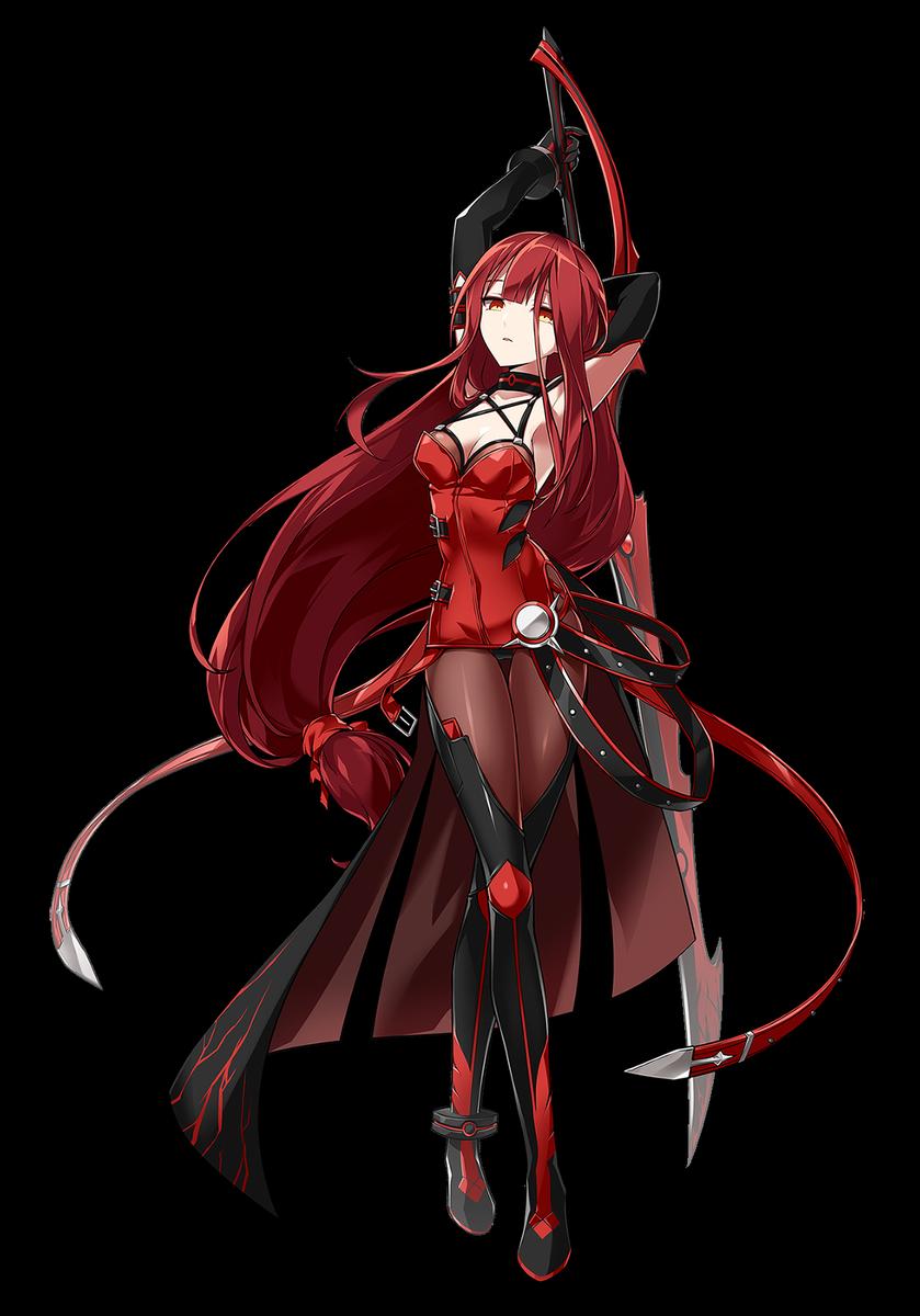 Blood red hair Elsword, Crimson avenger, Anime warrior
