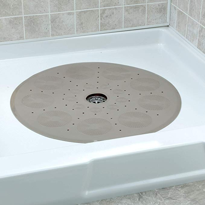 Amazon Com Slipx Solutions Tan Round Shower Stall Mat Provides