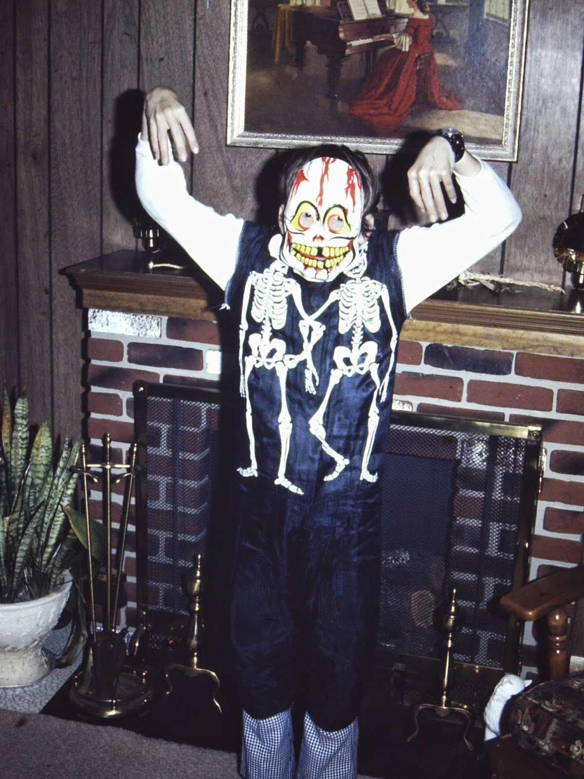 Collegeville Skeleton Costume 1970S