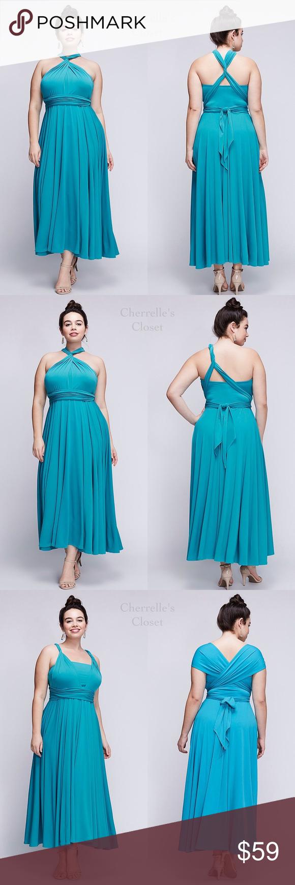 Lane Bryant MULTI-WAY DRESS Plus Size 2X 18/20 NWT   Polyester ...