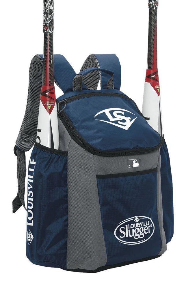Baseball Bat Bag 3 Stick Louisville Slugger Softball Equipment Backpack Navy Louisvilleslugger