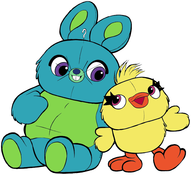 Clip Art Of Bunny And Ducky From Toy Story 4 Bunny Ducky Bunnyandducky Toystory4 Toy Story Characters Disney Character Drawings Character Drawing