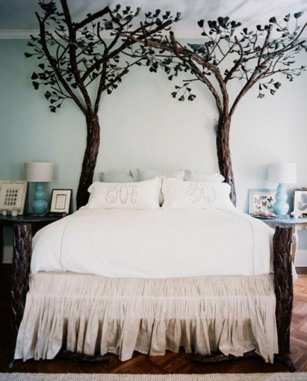 das bett mit zwei bäumen | beispiele für räume, zimmer, Hause deko