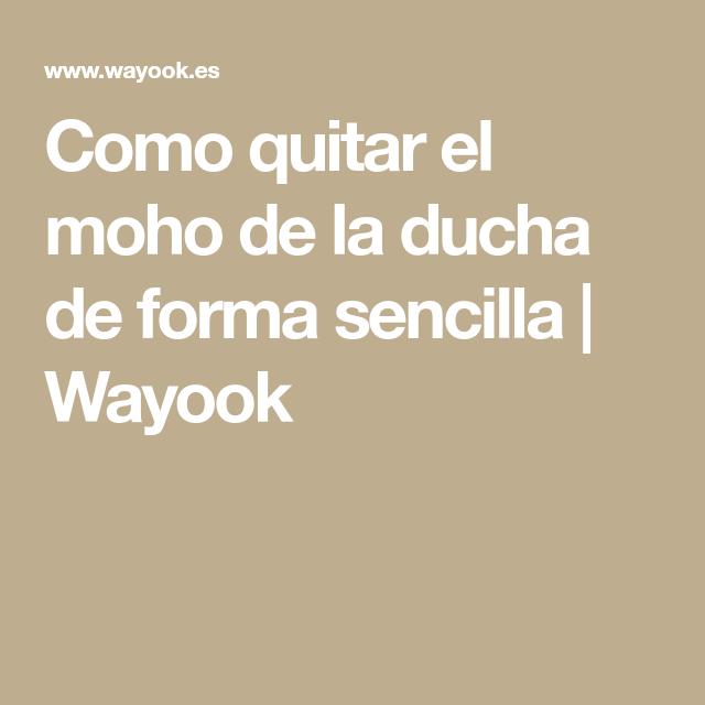 Como quitar el moho de la ducha de forma sencilla | Wayook | Limpo ...