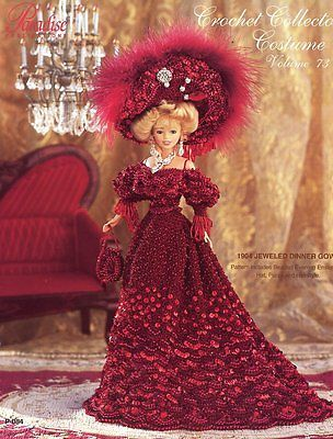 Bejeweled Party Gown fits Barbie Doll Crochet PATTERN//INSTRUCTIONS NEW