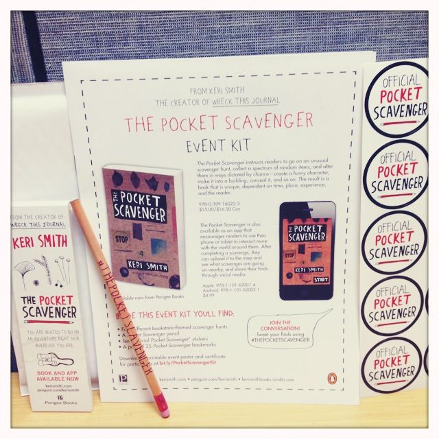 We made these fun event kits for The Pocket Scavenger, including stickers, a pencil, and bookmarks! Ask your local bookstore if they're hosting a Pocket Scavenger event this summer. And if you're a bookseller, click this pin to download the scavenger hunts and other printable materials.