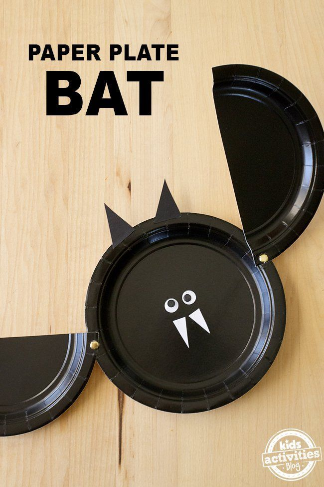 Easy Paper Plate Bat Craft - An adorable craft perfect for Halloween! via @ & EASY PAPER PLATE BAT CRAFT | Bats Easy and Craft
