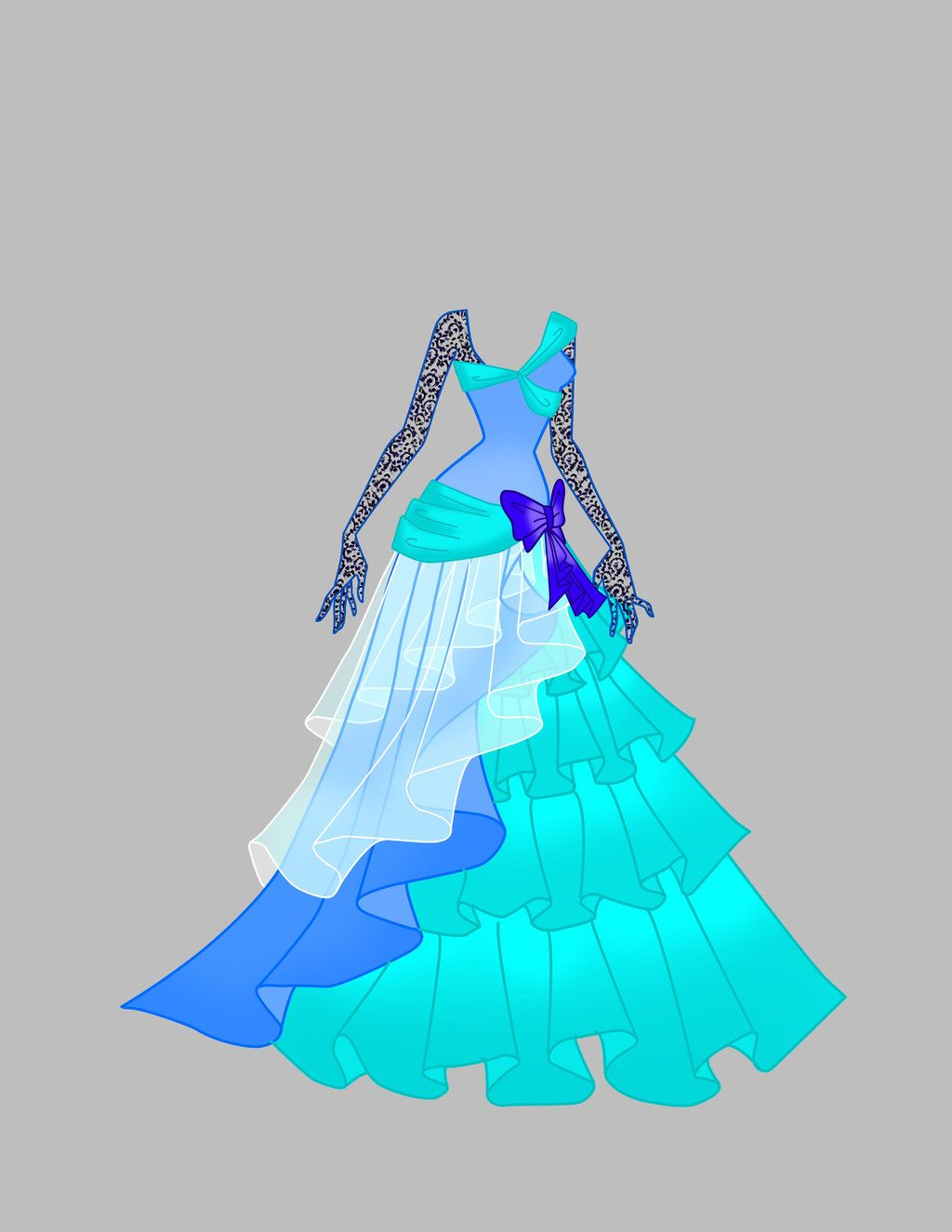 Character Design Dress Up : Gown adoptable sold by shweetcupcake viantart on
