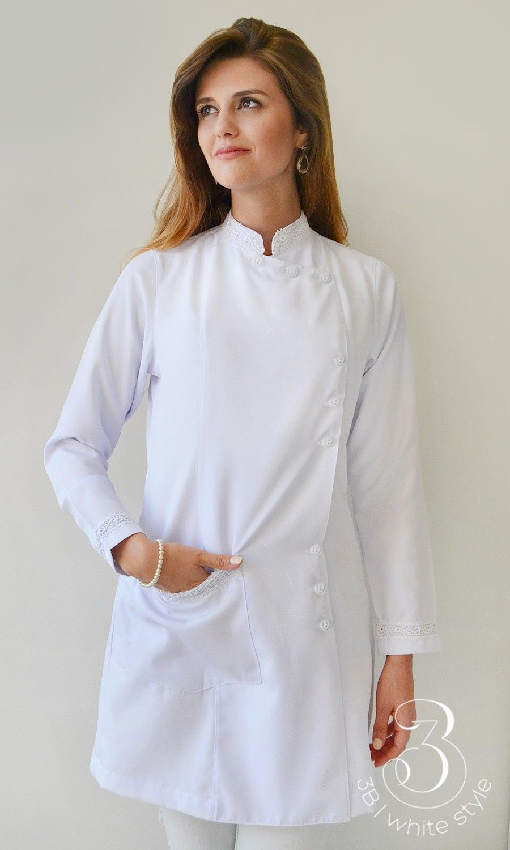 fbbead6c3 Blusa Enfermagem, Festa De Enfermagem, Jalecos Brancos, Modelos De Jalecos,  Jaleco Medico