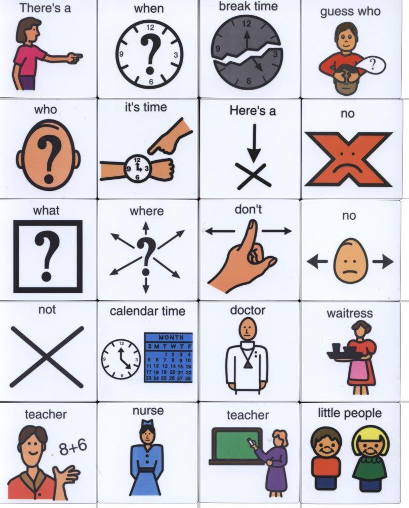 Pecs Symbols Free Pecs Symbols Flashcards for kids