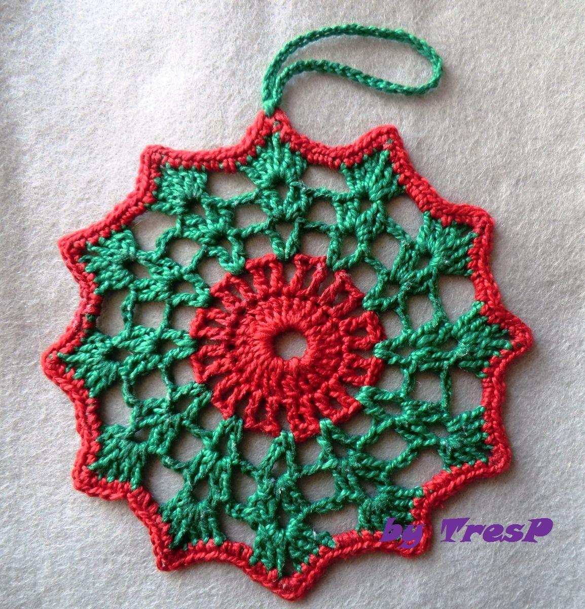 Tresp craft blog adornos para navidad crochet christmas stars Adornos navidenos a crochet