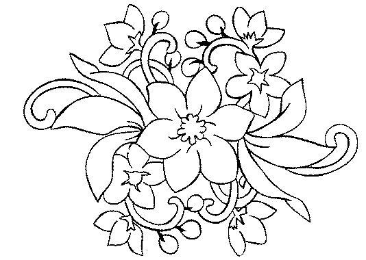 Coloriage Fleur à Colorier Dessin à Imprimer Rosemaling