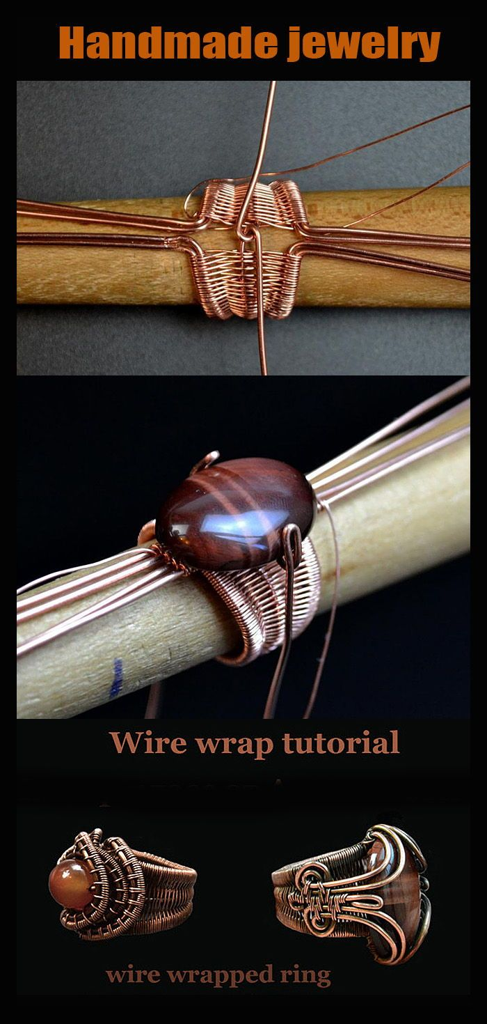 Photo of Wire wrap Jewelry tutorial. Wire wrapped rings