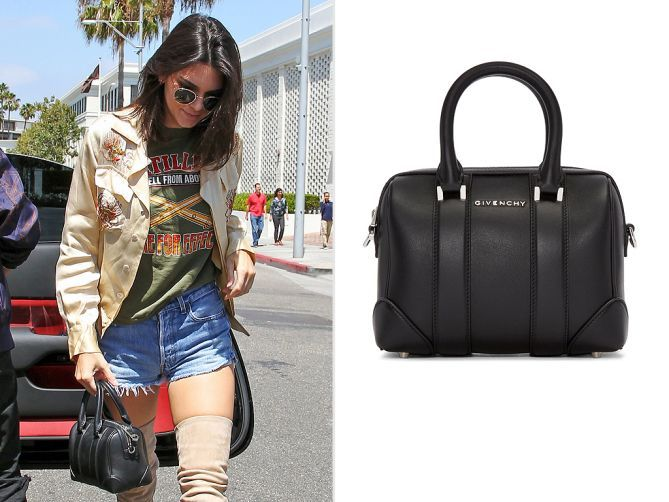 Kendall Jenner's 10 best bags - Givenchy micro black leather Lucrezia - black bag leather, pouch bag, online bag store *ad