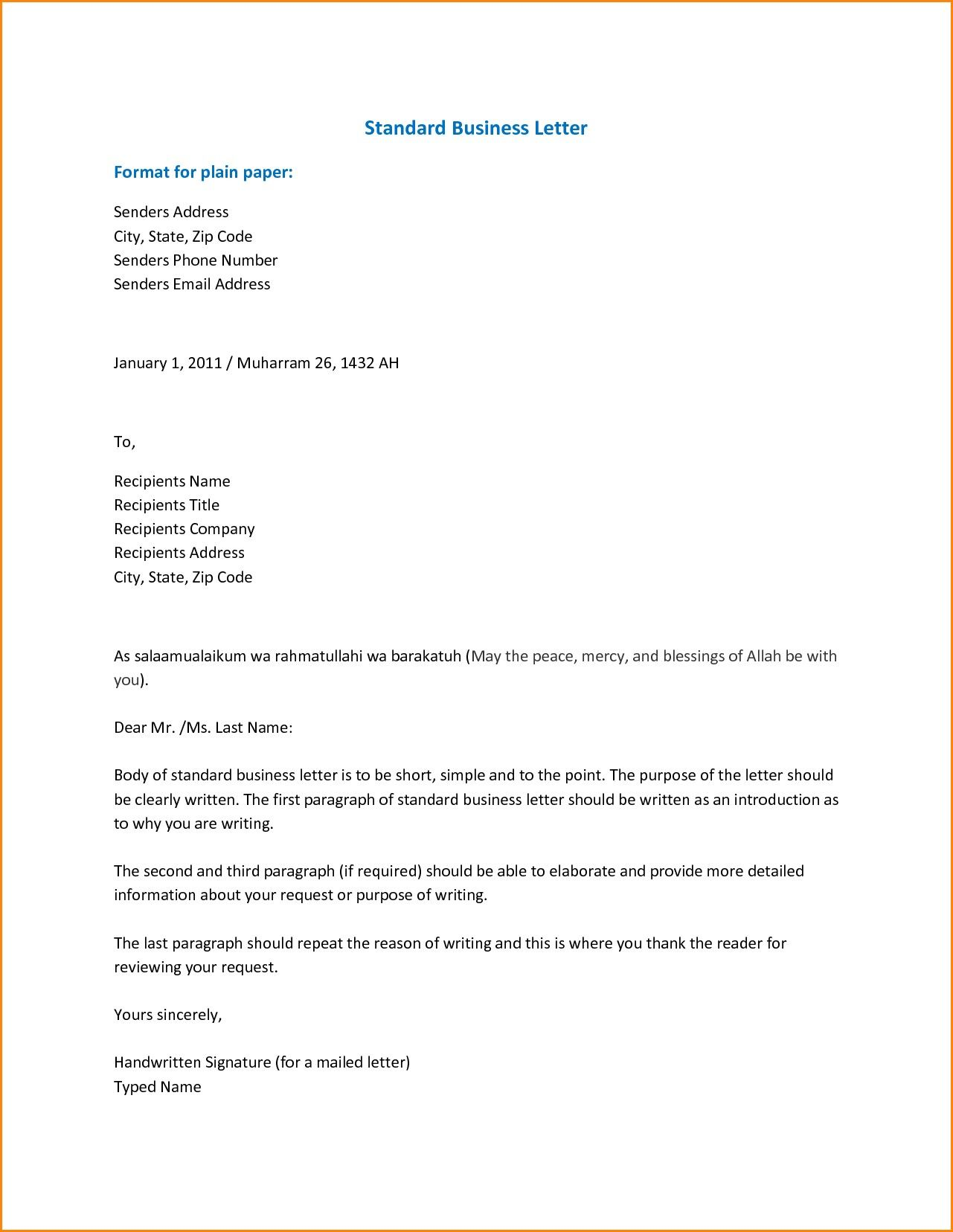 Hypothesis For A Research Paper Business Letter Template