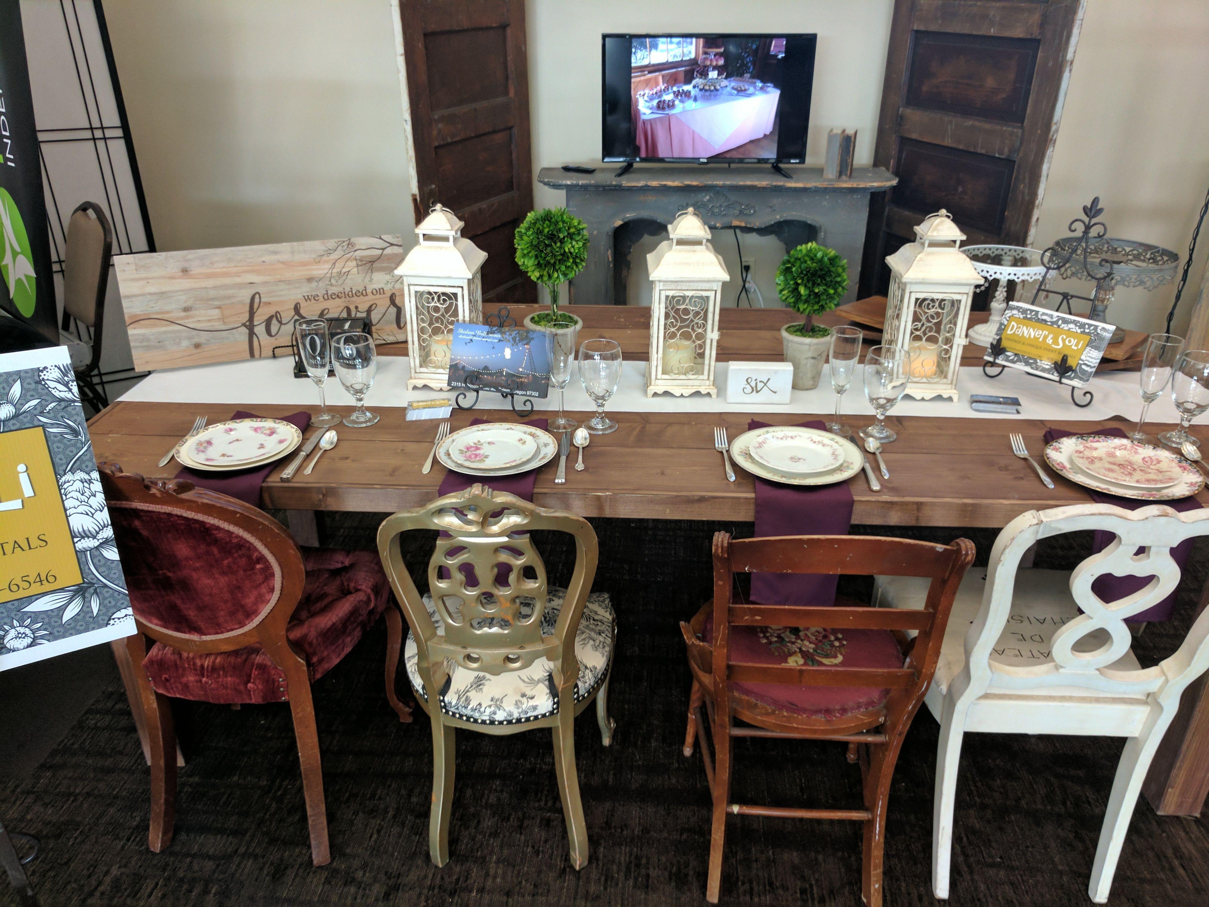 Vintage Wedding Table And Setting Danner Soli Salem Oregon
